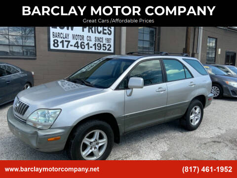 2002 Lexus RX 300 for sale at BARCLAY MOTOR COMPANY in Arlington TX