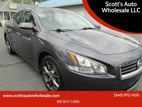 2012 Nissan Maxima for sale at Scott's Auto Wholesale LLC in Locust Grove VA