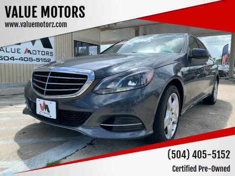 2014 Mercedes-Benz E-Class for sale at VALUE MOTORS in Kenner LA