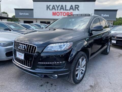 2015 Audi Q7 for sale at KAYALAR MOTORS in Houston TX