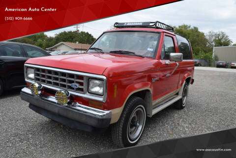 1987 Ford Bronco II for sale at American Auto Center in Austin TX
