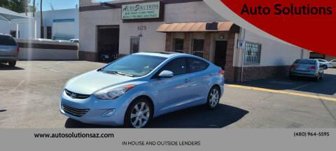 2012 Hyundai Elantra for sale at Auto Solutions in Mesa AZ