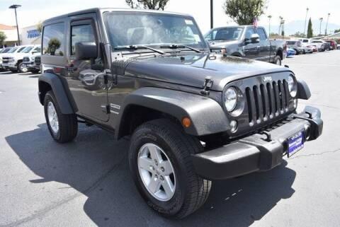 2017 Jeep Wrangler for sale at DIAMOND VALLEY HONDA in Hemet CA