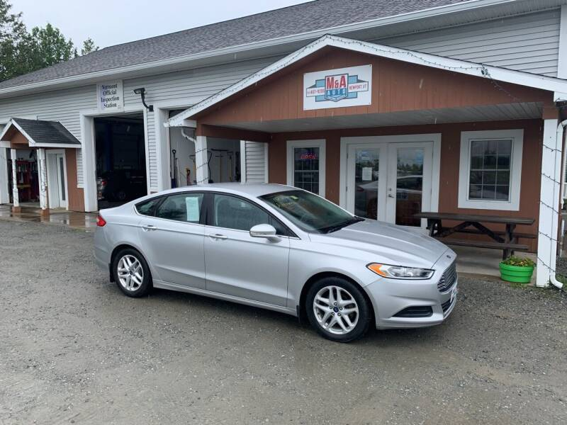 2015 Ford Fusion for sale at M&A Auto in Newport VT