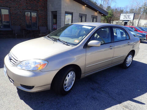 2004 Toyota Corolla for sale at S & J Motor Co Inc. in Merrimack NH