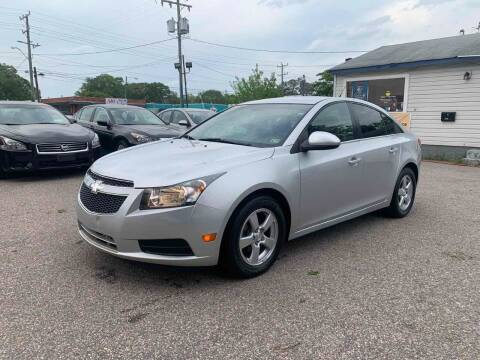 2014 Chevrolet Cruze for sale at Wheel Deal Auto Sales LLC in Norfolk VA
