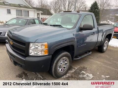 2012 Chevrolet Silverado 1500 for sale at Warren Auto Sales in Oxford NY
