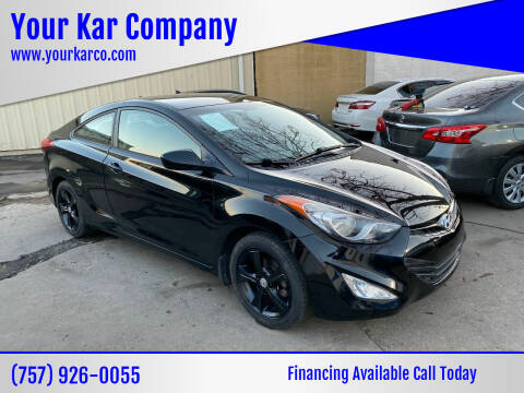 2013 Hyundai Elantra Coupe for sale at Your Kar Company in Norfolk VA