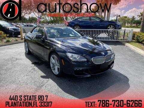 2014 BMW 6 Series for sale at AUTOSHOW SALES & SERVICE in Plantation FL