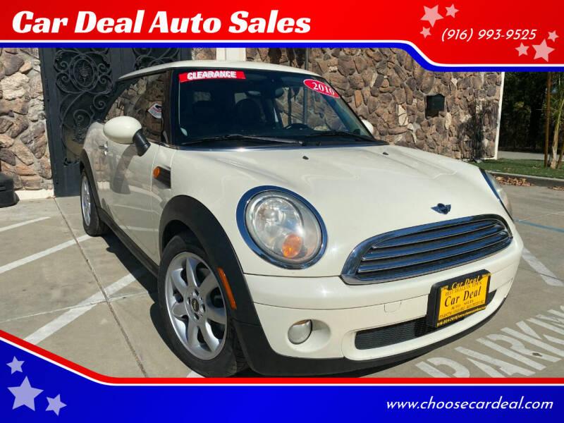 2010 MINI Cooper for sale at Car Deal Auto Sales in Sacramento CA