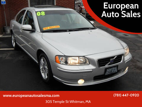 2008 Volvo S60 for sale at European Auto Sales in Whitman MA