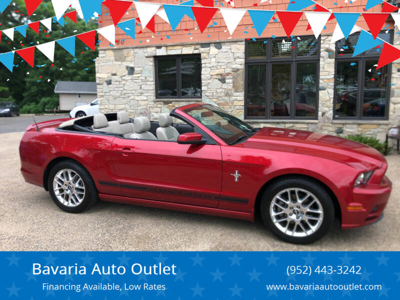 2013 Ford Mustang for sale at Bavaria Auto Outlet in Victoria MN
