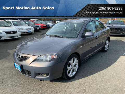 2009 Mazda MAZDA3 for sale at Sport Motive Auto Sales in Seattle WA