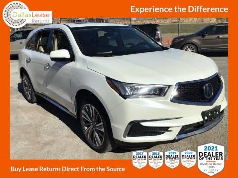 2017 Acura MDX for sale at Dallas Auto Finance in Dallas TX