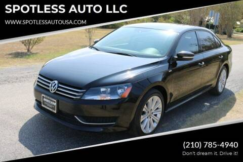 2014 Volkswagen Passat for sale at SPOTLESS AUTO LLC in San Antonio TX