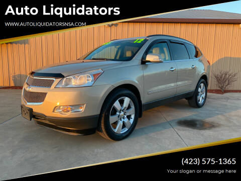 2012 Chevrolet Traverse for sale at Auto Liquidators in Bluff City TN