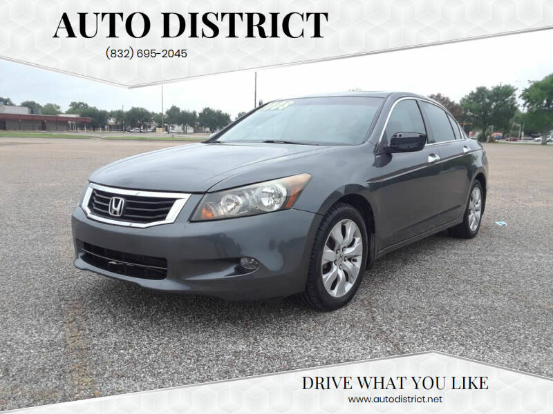 2008 Honda Accord for sale at Auto District in Baytown TX