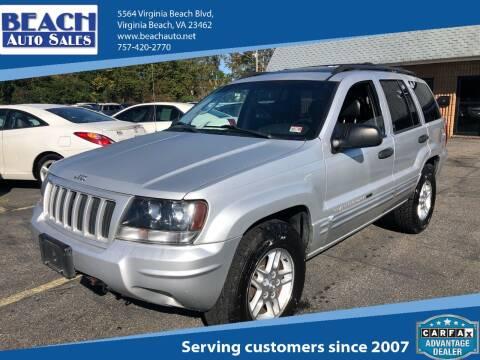 2004 Jeep Grand Cherokee for sale at Beach Auto Sales in Virginia Beach VA