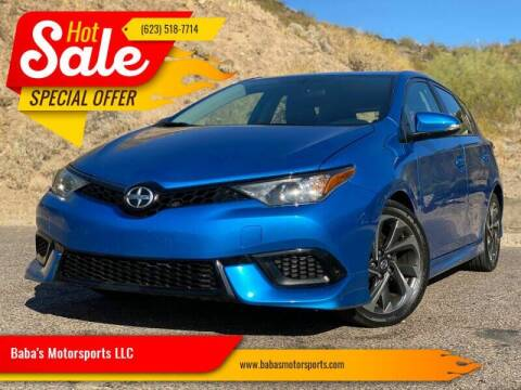 2016 Scion iM for sale at Baba's Motorsports, LLC in Phoenix AZ