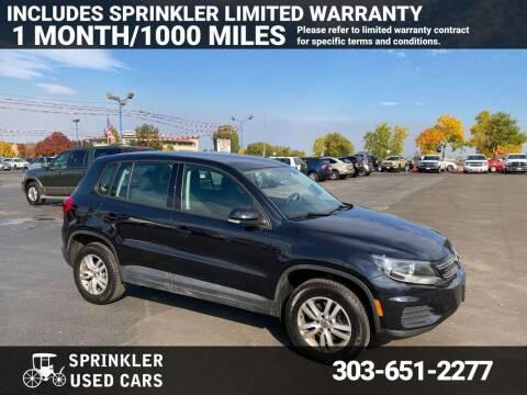 2014 Volkswagen Tiguan for sale at Sprinkler Used Cars in Longmont CO
