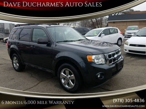 2009 Ford Escape for sale at Dave Ducharme's Auto Sales in Lowell MA