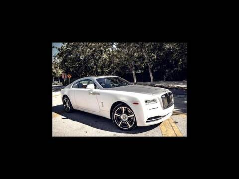 2014 Rolls-Royce Wraith for sale at AE Of Miami in Miami FL