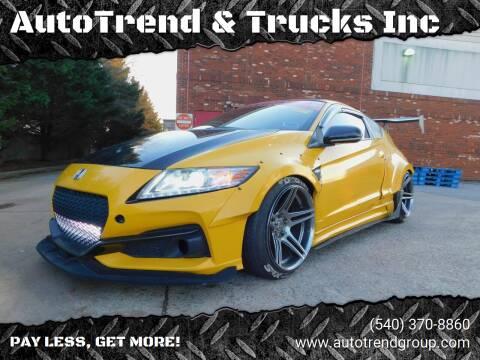 2013 Honda CR-Z for sale at AutoTrend & Trucks Inc in Fredericksburg VA