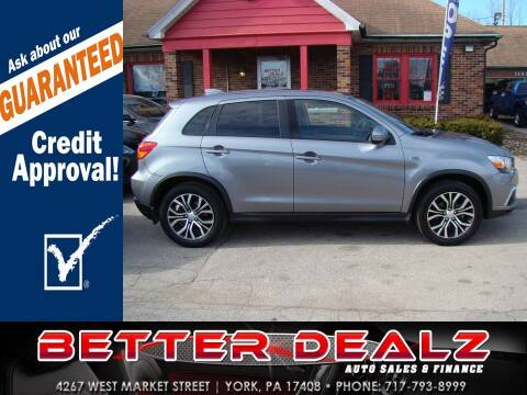 2018 Mitsubishi Outlander Sport for sale at Better Dealz Auto Sales & Finance in York PA
