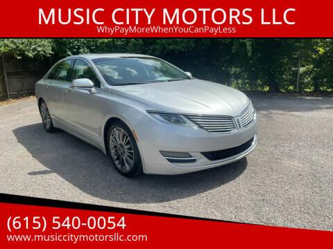 2014 Lincoln MKZ for sale at MUSIC CITY MOTORS LLC in Nashville TN