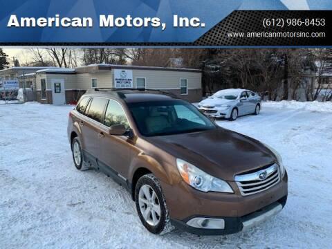 2011 Subaru Outback for sale at American Motors, Inc. in Farmington MN