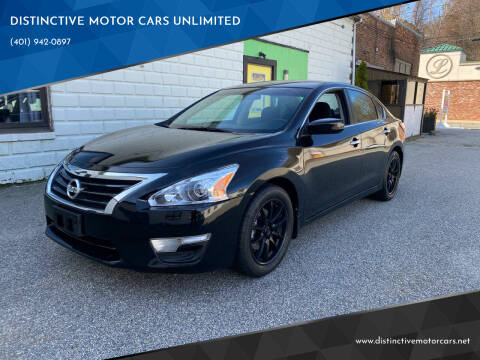 2015 Nissan Altima for sale at DISTINCTIVE MOTOR CARS UNLIMITED in Johnston RI