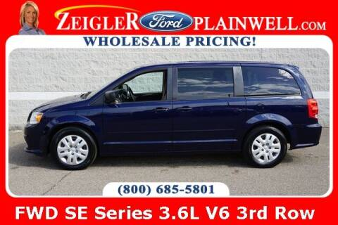 2016 Dodge Grand Caravan for sale at Zeigler Ford of Plainwell- Jeff Bishop in Plainwell MI