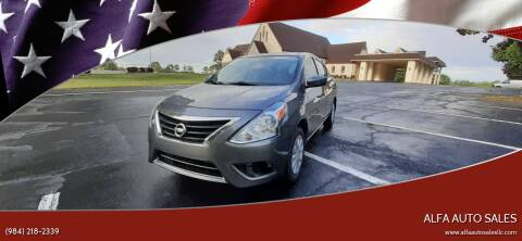 2016 Nissan Versa for sale at Alfa Auto Sales in Raleigh NC