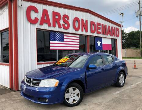 2013 Dodge Avenger for sale at Cars On Demand 2 in Pasadena TX