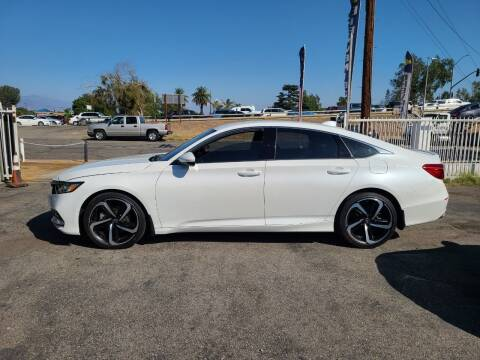 2018 Honda Accord for sale at E and M Auto Sales in Bloomington CA