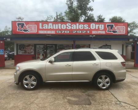 2014 Dodge Durango for sale at LA Auto Sales in Monroe LA