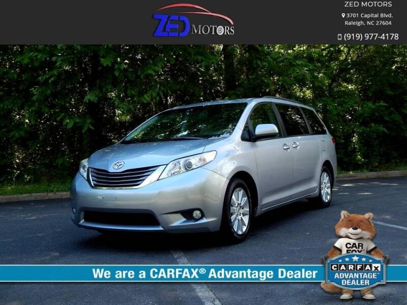2011 Toyota Sienna for sale at Zed Motors in Raleigh NC