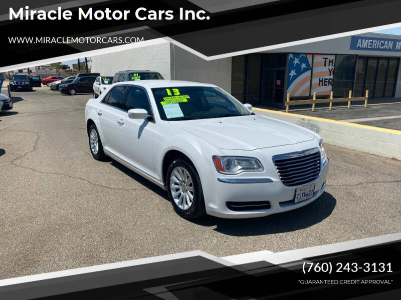 2013 Chrysler 300 for sale at Miracle Motor Cars Inc. in Victorville CA