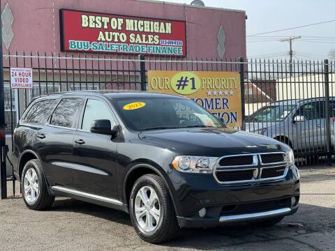 2013 Dodge Durango for sale at Best of Michigan Auto Sales in Detroit MI