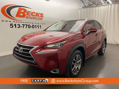 2015 Lexus NX 200t for sale at Becks Auto Group in Mason OH