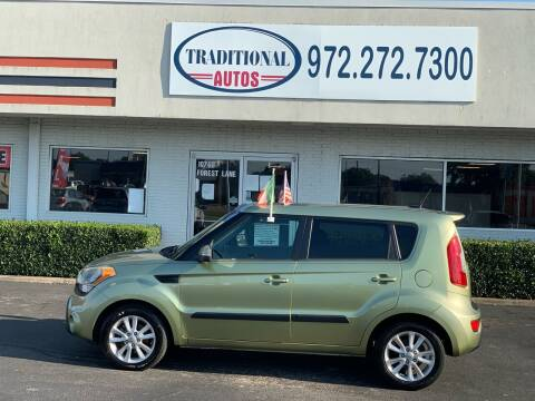 2013 Kia Soul for sale at Traditional Autos in Dallas TX