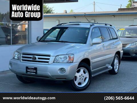 2006 Toyota Highlander for sale at Worldwide Auto Group in Auburn WA