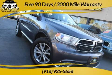2014 Dodge Durango for sale at West Coast Auto Sales Center in Sacramento CA