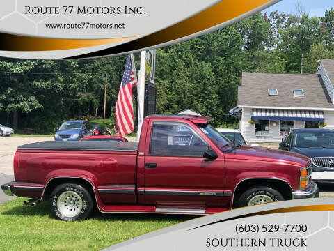 1989 Chevrolet C/K 1500 Series for sale at Route 77 Motors Inc. in Weare NH