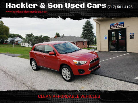 2014 Mitsubishi Outlander Sport for sale at Hackler & Son Used Cars in Red Lion PA