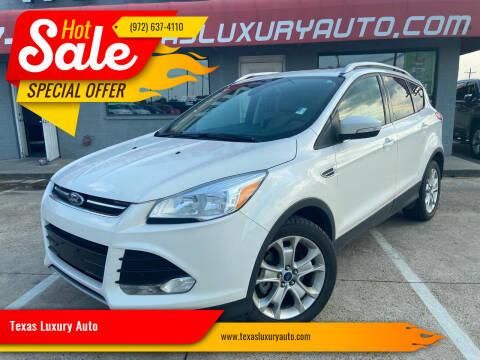 2016 Ford Escape for sale at Texas Luxury Auto in Cedar Hill TX