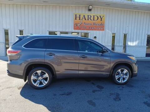 2016 Toyota Highlander Hybrid for sale at Hardy Auto Resales in Dallas GA