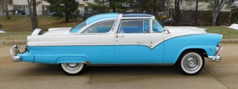 1955 Ford Crown Victoria for sale at WEST PORT AUTO CENTER INC in Fenton MO