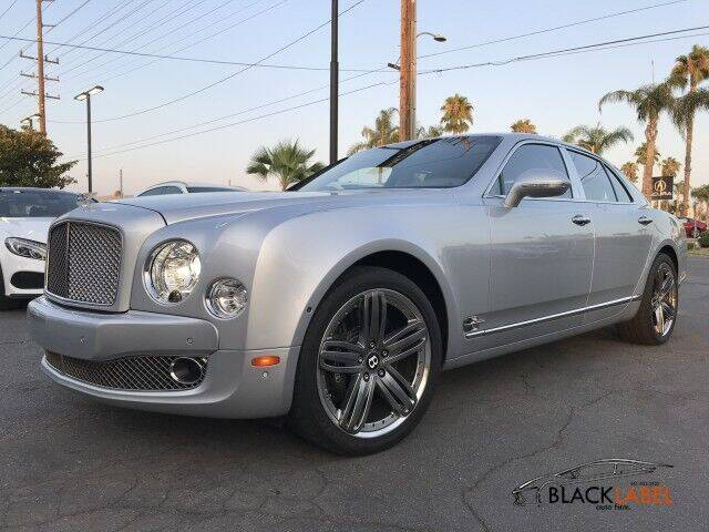 2012 Bentley Mulsanne for sale at BLACK LABEL AUTO FIRM in Riverside CA