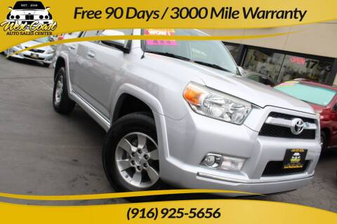 2012 Toyota 4Runner for sale at West Coast Auto Sales Center in Sacramento CA